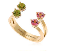 RING 'PINK & GREEN DOTS'