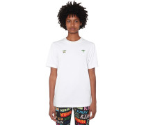 FRONT EMBROIDERED COTTON JERSEY T-SHIRT