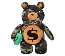 CAMO TATTOOED MONEY BEAR BACKPACK