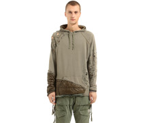 SWEATSHIRT MIT NYLON 'GREG LAUREN COLLIDE'
