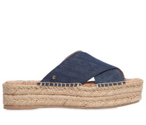 40MM PLATEAUSANDALEN AUS DENIM 'NATTY'