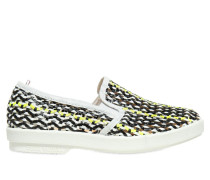 SLIP-ON-SNEAKERS AUS GEWEBTEM LEDER