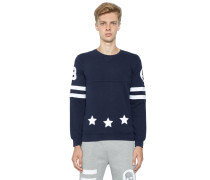 SWEATSHIRT AUS BAUMWOLLE MIT PATCHES 'HOCKEY'