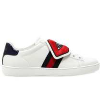 LEDERSNEAKERS MIT PATCHES 'NEW ACE'