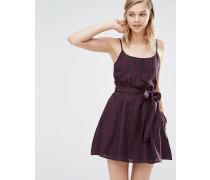 Kleid mit Gingham-Print und Gürtel Mehrfarbig