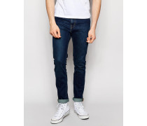 Friday Skinny-Stretchjeans in dunkelblauer Rumble-Waschung Blau