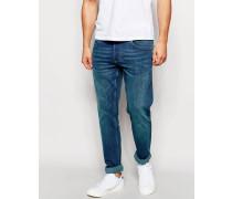 Eng geschnittene Stretch-Jeans Blau