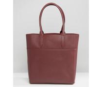 Shopper-Tasche im Bahnendesign Rot