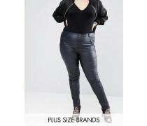 Enge, beschichtete Jeans Marineblau