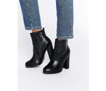 Stiefel mit hohem Blockabsatz Schwarz