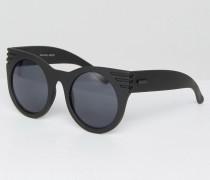 Up & Away Runde Sonnenbrille Schwarz