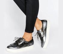 Emmy Sneaker zum Schnüren mit Fransen Silber