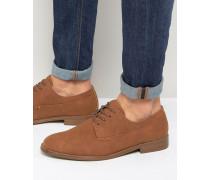 Derby-Schuhe in Braun Braun