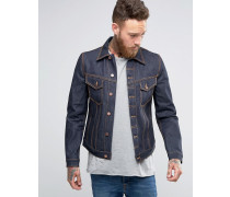 Nudie Billy Jacke aus Dry Denim Marineblau