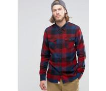 Kastiges, rot kariertes Flannelhemd, V00JOGKED Rot