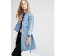 Jeansjacke im Kimono-Stil Blau