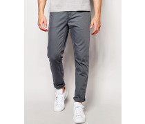Enge Jeans in Grau Blau