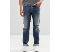 Safado Gerade geschnittene Jeans in ausgebleichter 853S-Waschung Blau
