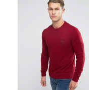 Franklin and Marshall Strickpullover mit Rundhalsausschnitt Rot