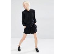 Shorts mit Falten Schwarz