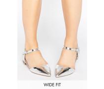 LILYBET Zweiteilige Ballerinas mit weiter Passform Silber