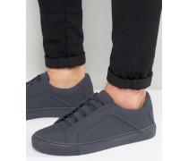 Sneaker zum Schnüren mit Blockstreifen in Marineblau Marineblau