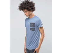 Flint T-Shirt in Schiefergrau Blau