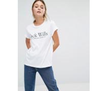 Forstal Boyfriend-T-Shirt Weiß