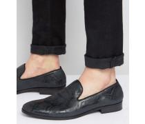 Loafer-Hausschuhe in Schwarz Schwarz