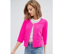 Strukturierter Blazer mit Tasche Rosa