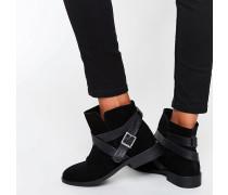 ALEX Legere Ankle-Boots aus Wildleder Schwarz