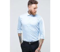 Schmales Hemd mit Stretchanteil Blau