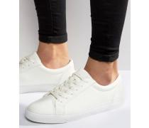 Geschnürte Sneaker in Weiß Weiß