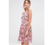 Sommerkleid mit tropischem Blumenmuster Mehrfarbig