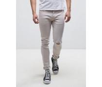 Skinny Jeans in heller Vintage-Waschung Grau