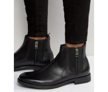 Anklook Chelsea-Stiefel mit Reißverschluss Schwarz