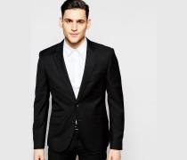 Super schmal geschnittene Stretch-Anzugjacke Schwarz