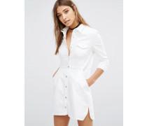 Dynomite Jeanskleid Weiß