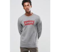 Levi's Sweatshirt mit Rundhalsausschnitt und Fledermausärmeln in Heidegrau Grau