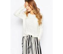 Leichter Pullover Weiß
