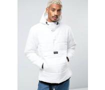Wattierte Jacke zum Überziehen Weiß
