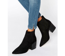 ELLIOT Spitze Chelsea-Ankle-Boots Schwarz