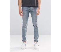 Form Superenge Jeans mit Engine-Beschichtung in Bench-Blau Blau