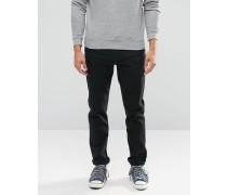 Levi's Jeans 522 Enge Karottenform mit Stretch in Tiefschwarz Schwarz