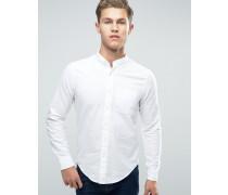 Schmal geschnittenes Oxford-Hemd in Weiß Weiß