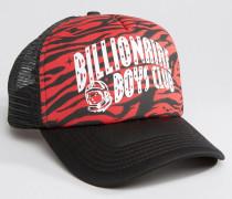 Trucker-Mütze mit Zebra-Military-Muster Rot