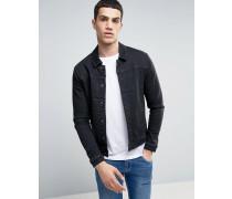 Jeansjacke in verwaschenem Schwarz Schwarz
