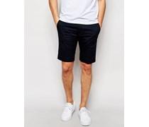 Chi-Pitt-Sho Schmale Chino-Shorts in Marineblau Marineblau