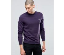 Pullover mit Rundhalsausschnitt in Schwarze Johannisbeere meliert Violett