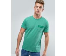 T-Shirt mit aufgesetzter Tasche Grün